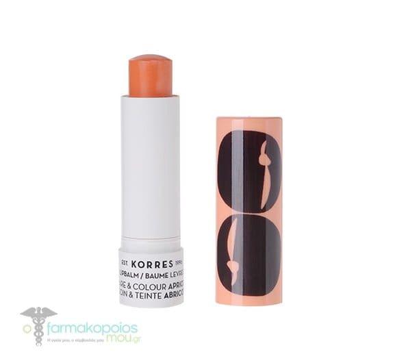 Korres Lipbalm Care & Colour Apricot Stick, 5ml