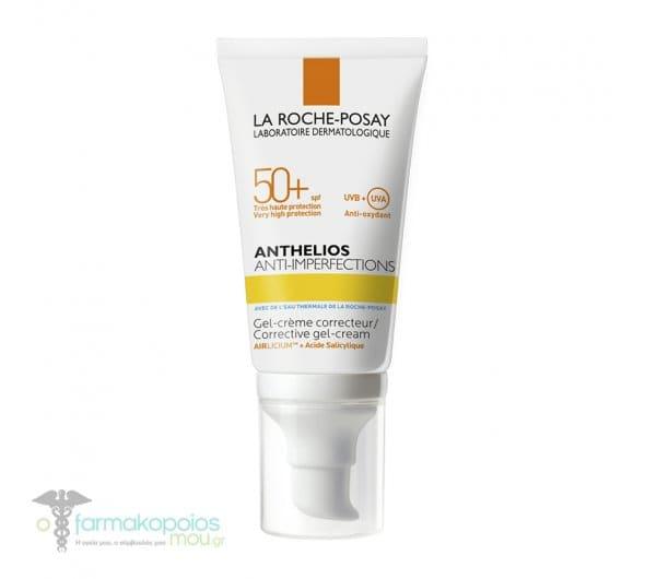 La Roche Posay Anthelios Anti-Imperfections SPF 50+ Corrective Gel-Cream Αντιηλιακή Κρέμα-Τζελ για Δέρμα με Τάση Ακμής, 50ml