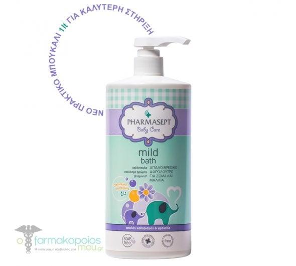 Pharmasept Tol Velvet Baby Mild Bath Παιδικό αφρόλουτρο για σώμα & μαλλιά