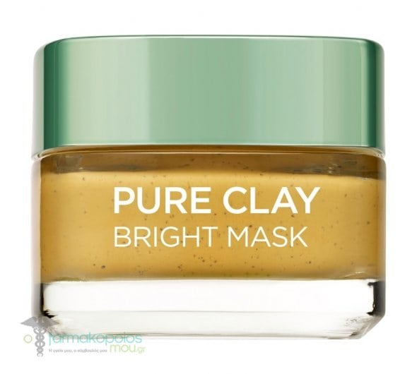 L'oreal Paris Pure Clay Bright Mask For Uniform Tone & Shine, 50ml