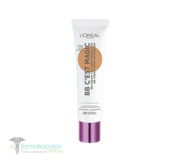 L'oreal Paris BB C'est Magic 5 in 1 Cream Ενυδατική Κρέμα με Χρώμα, 30ml - 03 Medium Dark