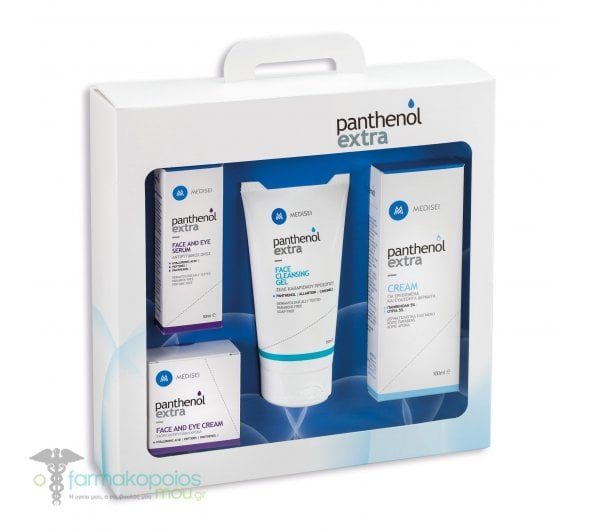 Panthenol Extra Promo Pack with Extra Face & Eye Cream 24hr, 50ml, Extra Face & Eye Serum, 30ml, Extra Face Cleansing Gel, 150ml & Extra Cream, 100ml