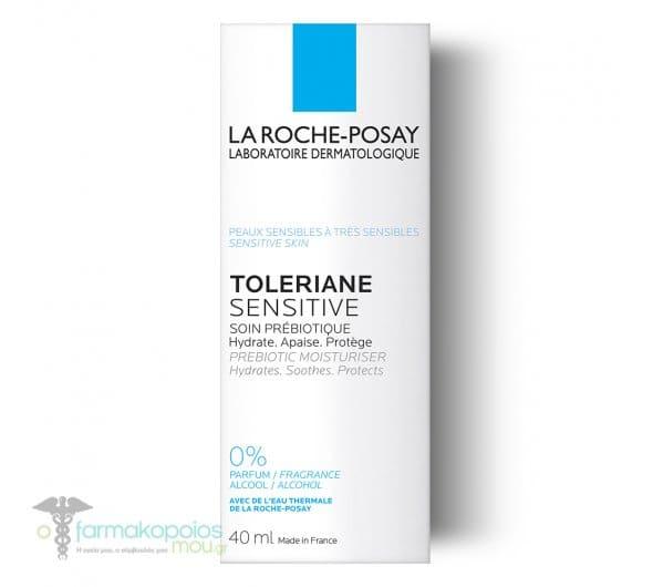La Roche PosayToleriane Sensitive Καθημερινή Ενυδάτωση με πρεβιοτικά που ανακουφίζει άμεσα το δέρμα από τα συμπτώματα Ευαισθησίας, 40ml