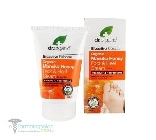 Dr .Organic Manuka Honey Foot and Heel Cream, 125 ml