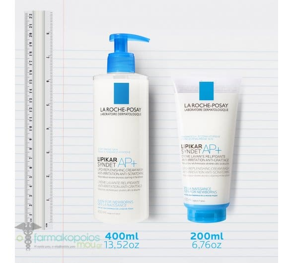 La Roche Posay Lipikar Syndet AP+ Κρέμα Καθαρισμού Σώματος για Πολύ Ξηρό Δέρμα με Τάση Ατοπίας, 400ml