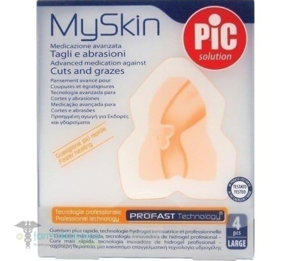 Pic Solution MySkin Cuts & Abrasions Elbow-Knee, 4pcs