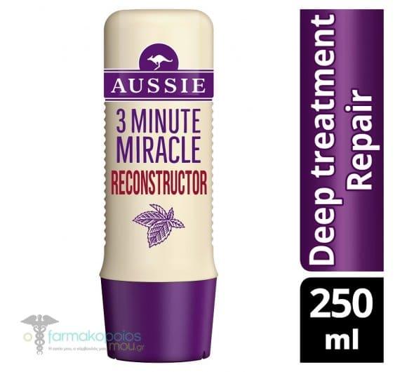 Aussie 3MM Reconstructor Θεραπεία 3' για Ισχυρή Φροντίδα Επανόρθωσης, 250ml
