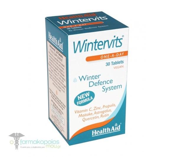 Health Aid Wintervits Vitamin C - Zinc - Propolis - Maitake - Astragalus, 30 ταμπλέτες