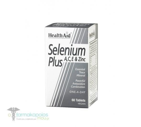 Health Aid SELENIUM Plus 200μg A, C, E & Zinc, 60 ταμπλέτες