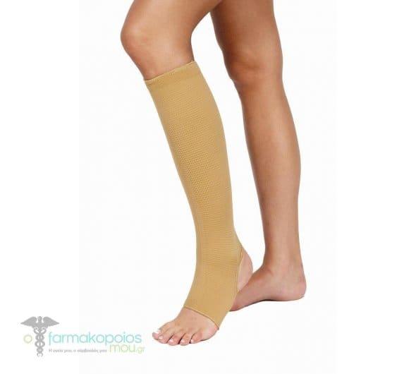 ADCO Κάλτσες Φλεβίτιδος Κάτω Γόνατος, Από πλεκτό ελαστικό ύφασμα, με άνοιγμα στα δάκτυλα & στην πτέρνα, Κατάλληλες για φλεβίτιδα & κιρσούς, 1 ζευγάρι