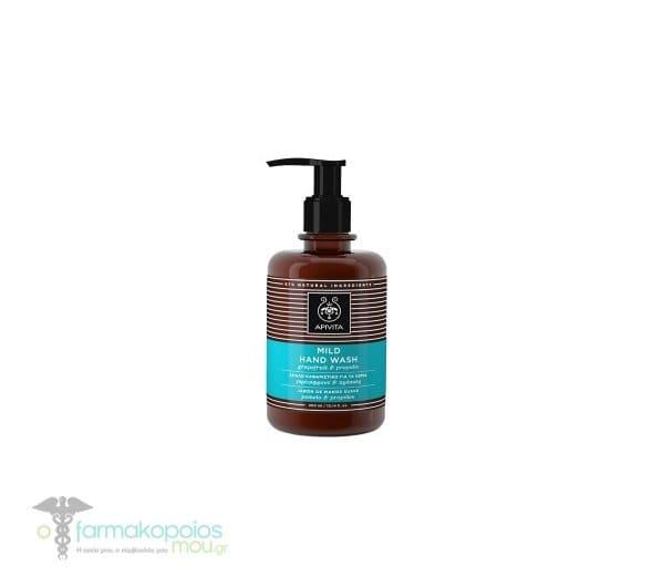 Apivita Hand Wash Grapefruit & Propolis Απαλό Καθαριστικό για τα Χέρια με Γκρέιπφρουτ & Πρόπολη, 300ml