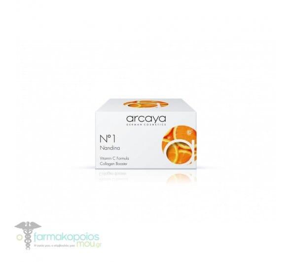 Arcaya No1 Nandina Cream Κρέμα περιποίησης Προσώπου, 100ml & ΔΩΡΟ 1 Αμπούλα, 2ml