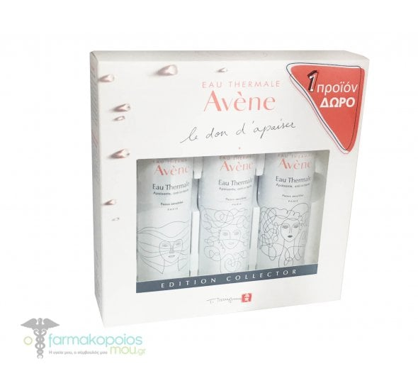Avene Eau Thermale Edition Collector 3x Thermal Spring Water Soothing & Anti-Irritating Ιαματικό Νερό με Αντι-ερεθιστικές Ιδιότητες, 3x 50ml