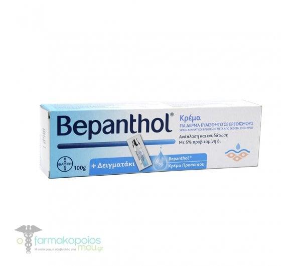 Bepanthol Cream For Skin Prone to Irritations, 100g & Sachet 1.5ml