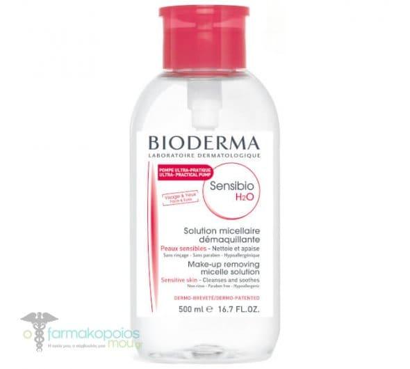 Bioderma Sensibio H2O Διάλυμα Καθαρισμού με Αντίστροφη Αντλία, 500ml