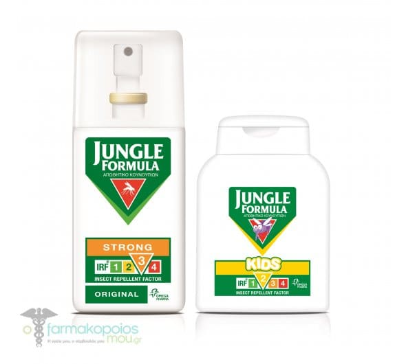 Jungle Formula PROMO PACK with Insect Repellent Kids Lotion, 125ml & Insect Repellent Spray, 75ml