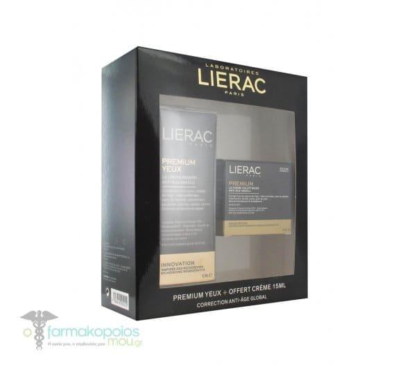 Lierac PROMO Premium Yeux Κρέμα Ματιών Αντιγήρανσης, 15ml & ΔΩΡΟ La Creme Voluptueuse, 15ml