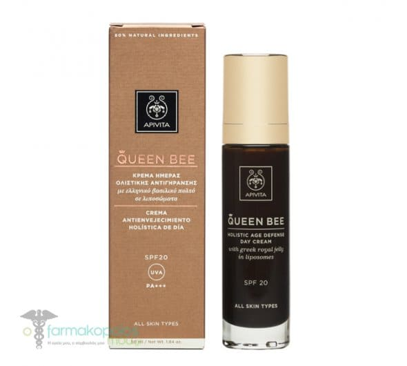 Apivita Queen Bee Holistic Age Defense Day Cream SPF 20 with Royal Jelly, 50ml