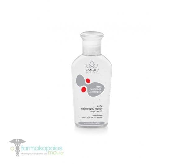 Camoil Johnz Hand Sanitizing & Cleansing Gel Ζελέ Καθαρισμού Χεριών χωρίς Νερό, χωρίς άρωμα, 80 ml