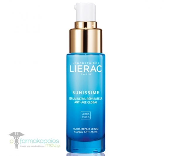 Lierac Sunissime Serum Reparateur SOS Anti-Age Global Ορός Άμεσης Ανανέωσης & Ολικής Αντιγήρανσης για μετά τον ήλιο, για το πρόσωπο & το ντεκολτέ, 30ml