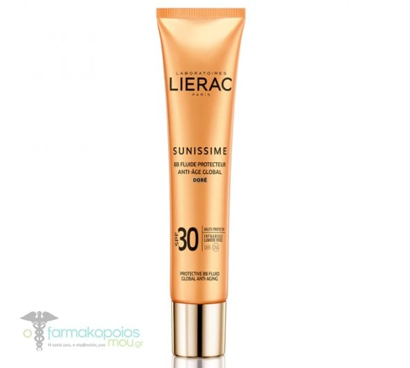 Lierac Sunissime BB Fluide Protecteur Anti-Age Global SPF30 Dore Λεπτόρρευστη Αντηλιακή & Αντιγηραντική Κρέμα Προστασίας με Χρώμα, 40ml