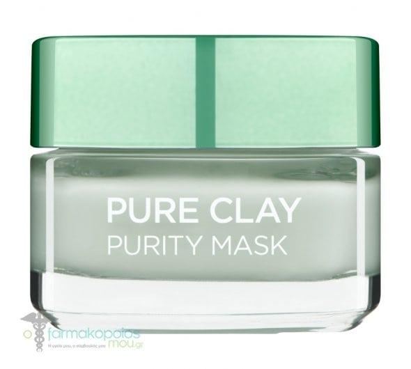 L'oreal Paris Pure Clay Purity Mask Μάσκα Αργίλου για Καθαρισμό & Ματ Όψη, 50ml