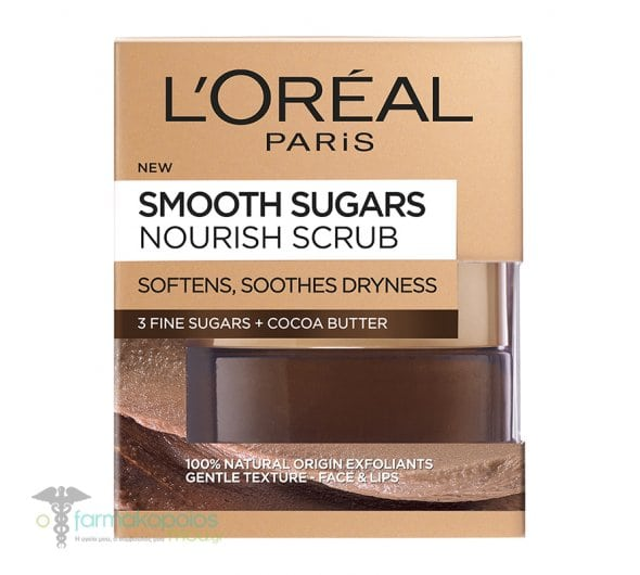 L'oreal Paris Smooth Sugar Nourish Scrub για Λείανση & Θρέψη της Επιδερμίδας, 50ml