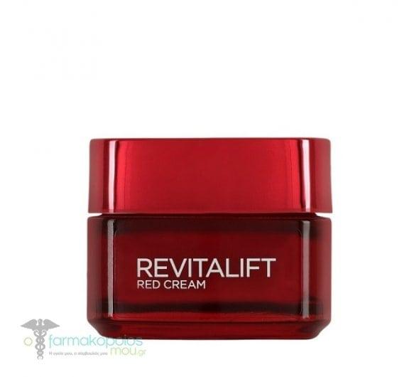 L'oreal Paris Revitalift Energising Red Cream Day Κρέμα Ημέρας με Αντιρυτιδική & Συσφικτική Δράση, 50ml