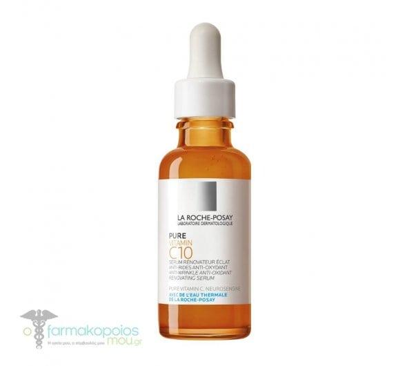 La Roche Posay Pure Vitamin C10 Αντιοξειδωτικός, αντιρυτιδικός, αναζωογονητικός ορός λάμψης με βιταμίνη C, 50ml
