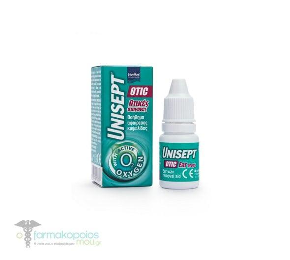 Intermed Unisept Otic Ear Drops, 10 ml - Online Pharmacy Ofarmakopoiosmou.gr