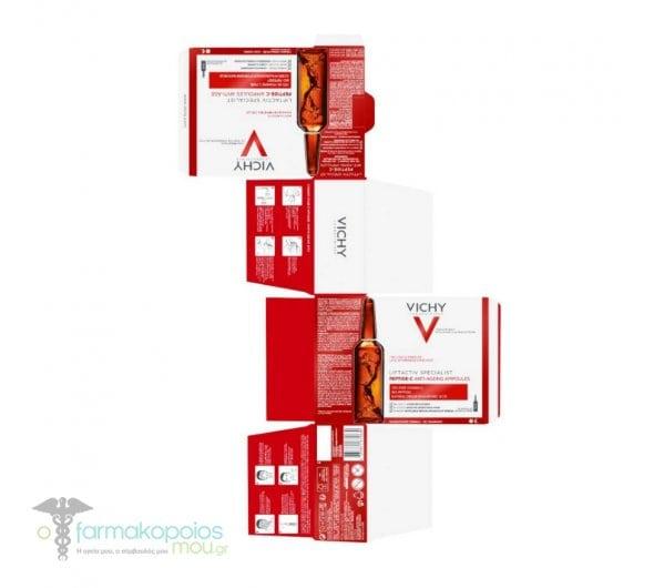 Vichy Liftactiv Specialist Peptide-C Anti-Ageing Αμπούλες με 10% Καθαρή Βιταμίνη C & Υαλουρονικό Οξύ, 30 x 1.8ml