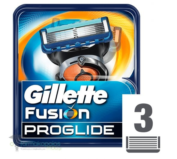 Gillette Fusion Proglide Men Replacement Heads with 5 Blades + 1 Precision, 3 Pieces