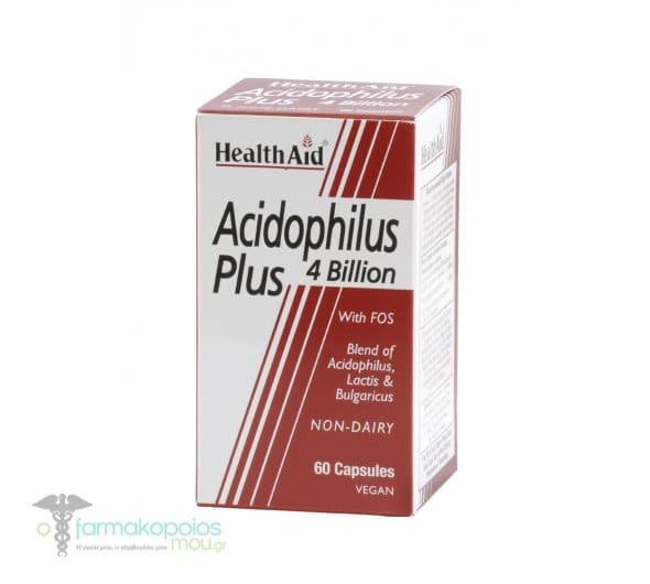 Health Aid ACIDOPHILUS Plus (4 billion), 60 κάψουλες