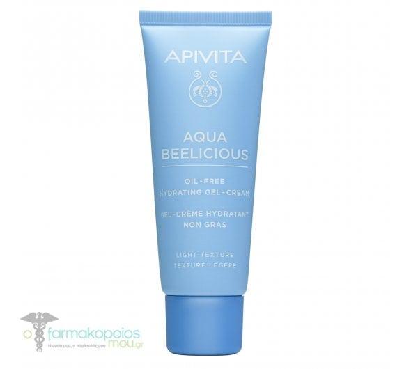 Apivita Aqua Beelicious Oil-Free Hydrating Gel-Cream Κρέμα-Τζελ Ενυδάτωσης Ελαφριάς Υφής, 40ml
