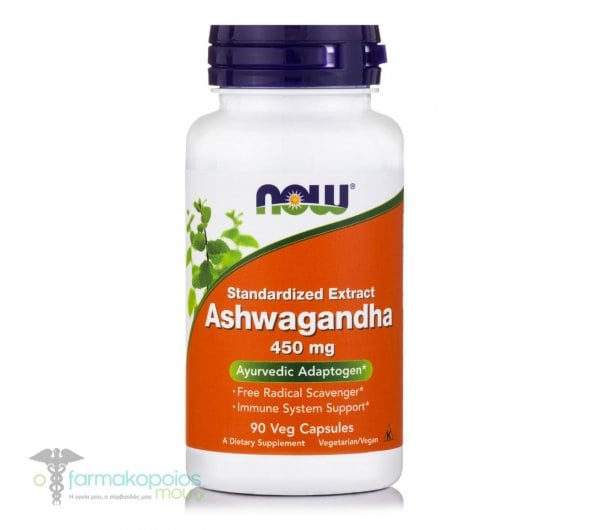 Now Ashwagandha Extract 450 mg, 90 Vcaps
