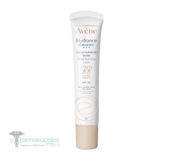 Avene Hydrance BB Riche SPF30 Ενυδατική Κρέμα Προσώπου με Χρώμα για Κανονικό & Ξηρό Δέρμα, 40ml