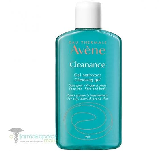 Avene Cleanance Gel Nettoyant, Τζελ Καθαρισμού για Λιπαρό Δέρμα / Με Τάση Ακμής, 200ml
