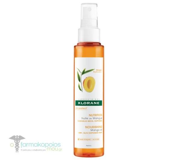 Klorane Mango Oil Ξηρό΄Ελαιο με έλαιο Μάνγκο για θρέψη & αντιηλιακή προστασία, 125ml