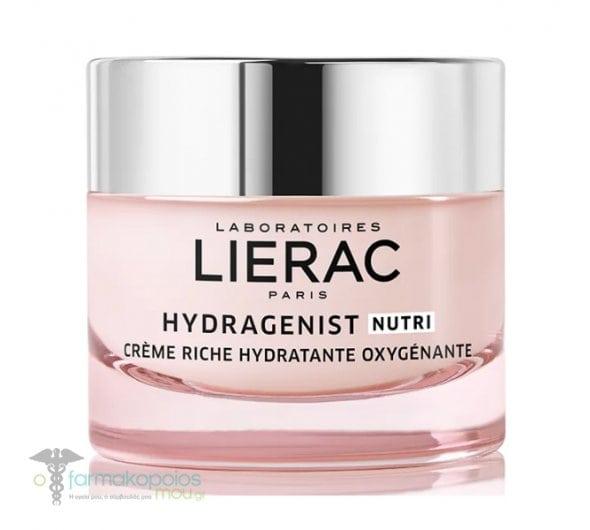 Lierac Hydragenist Nutri Creme Riche Hydratante Oxygenante, Ενυδατική Κρέμα Προσώπου Πλούσιας Υφής, 50ml
