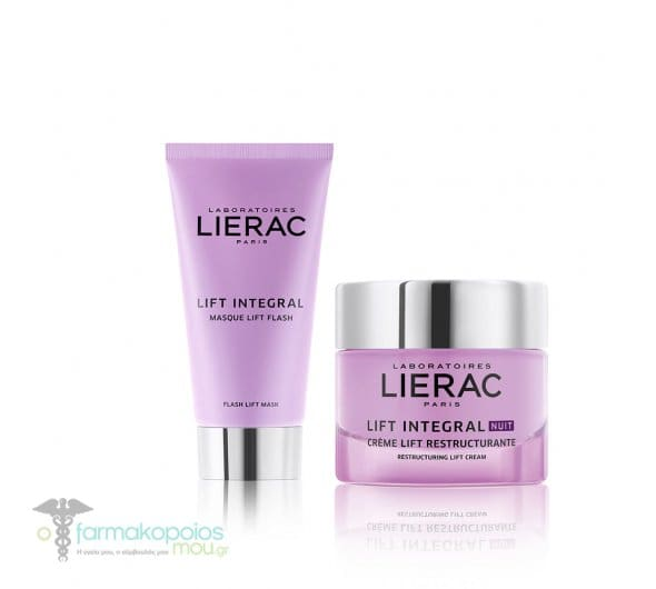 Lierac Lift Integral PROMO PACK with Masque Flash Lift Face Mask, 75ml & Nuit Creme Lift Remodelante Night Cream, 50ml