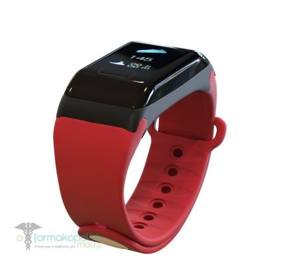 Powerpharm Βιομετρικό Ρολόι FT8, 1τμχ - Κόκκινο