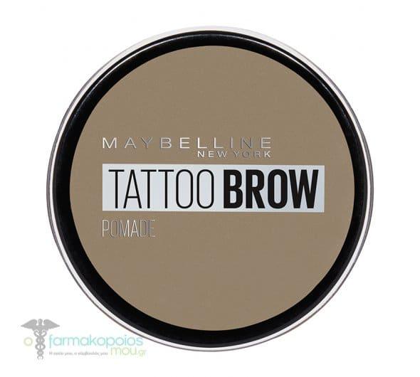 Maybelline Tattoo Brow Pomade Κρεμώδες long-wear Τατουάζ Φρυδιών, 1τμχ - 00 LIGHT BLOND