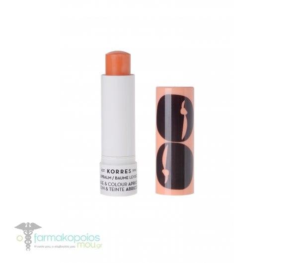 Korres Lipbalm Care & Colour Apricot Stick με Βερύκοκο, 5ml