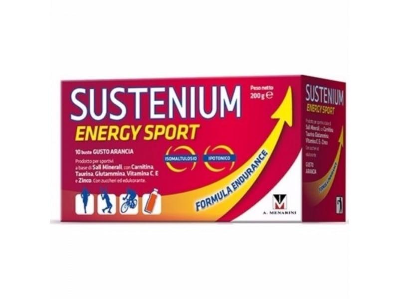 Sustenium Energy Sport Συμπλήρωμα για Αθλητές, με γεύση πορτοκάλι, 10 sachets