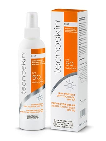 Tecnoskin Sun Protect Dry Touch Oil SPF50+ Αντηλιακό ξηρό λάδι σώματος για όλες τις επιδερμίδες, 200ml