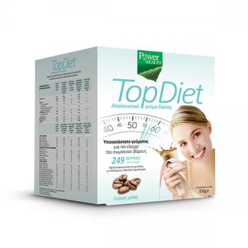 Power Health Top Diet Υποκατάστατο Γεύματος για τον Έλεγχο του Σωματικού Βάρους με Γεύση Μόκα, 10 x 35gr
