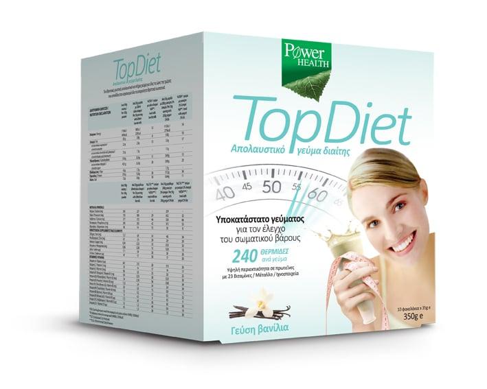 Power Health Top Diet Υποκατάστατο Γεύματος για τον Έλεγχο του Σωματικού Βάρους με Γεύση Βανίλια, 10 x 35gr