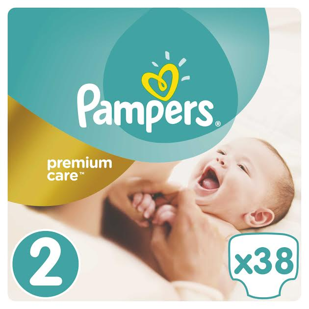 Pampers Premium Care Value Pack No.2 (Mini) 3-6 kg Βρεφικές Πάνες, 38 τεμάχια