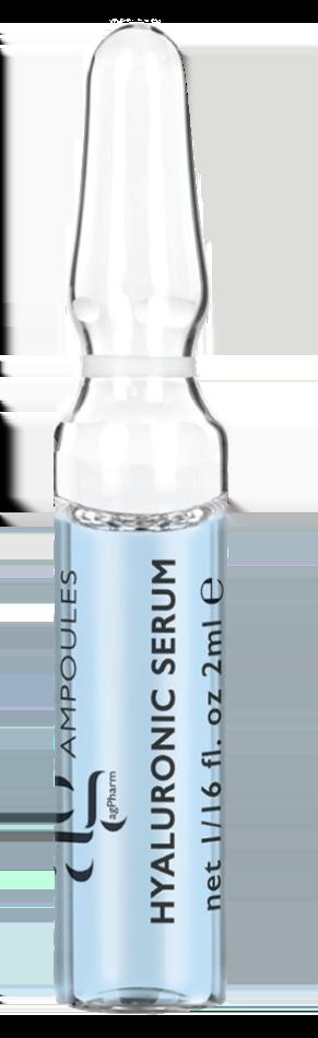 AG Pharm Hyaluronic Serum Ενυδατικός Ορός, τριών διαφορετικών μοριακών βαρών υαλουρονικού οξέως, 1 amp x 2ml