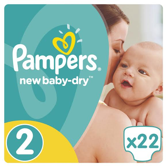Pampers New Baby Dry Carry Pack No.2 (Mini) 3-6 kg Βρεφικές Πάνες, 22 τεμάχια